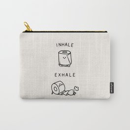 Inhale Exhale Toilet Paper Carry-All Pouch