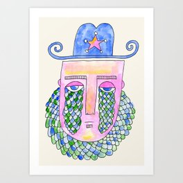 Sea Sheriff Art Print