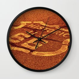 Historic route 66 in the Mojave desert. Wall Clock