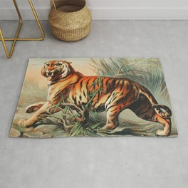 Royal bengal tiger from Johnson's household book of nature  Rug