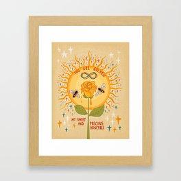 You are golden Framed Art Print