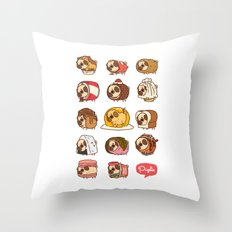 Puglie Food Collection 2 Throw Pillow