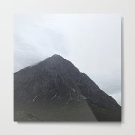 Looking up to the mountains, Glen Etive, Scotland Metal Print