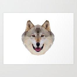 Geometrical Wolf Art Print