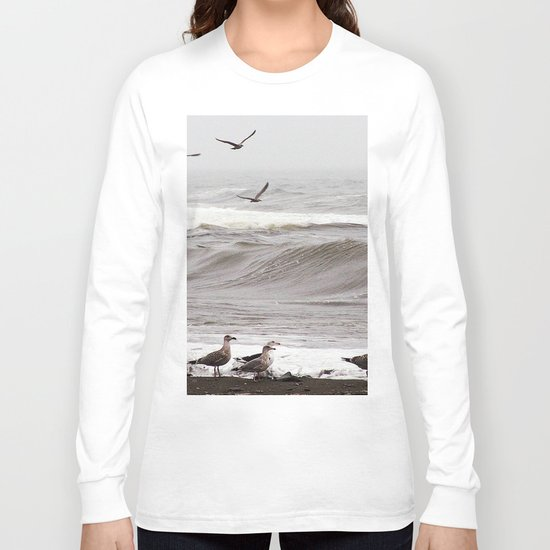 Seagulls and the Surf Long Sleeve T-shirt