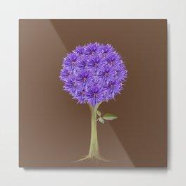 Flowerpower - Purple Flower Ball - Society6# #buyart Metal Print