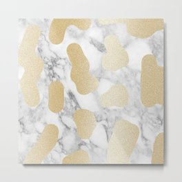Marble Gold Session III-XXXIII Metal Print