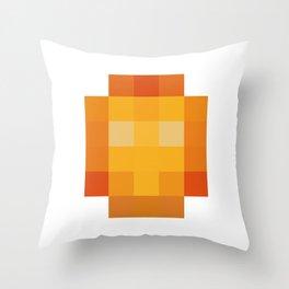 hero pixel red yellow Throw Pillow
