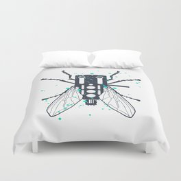 Cartridgebug of Mixing on Turntable Duvet Cover