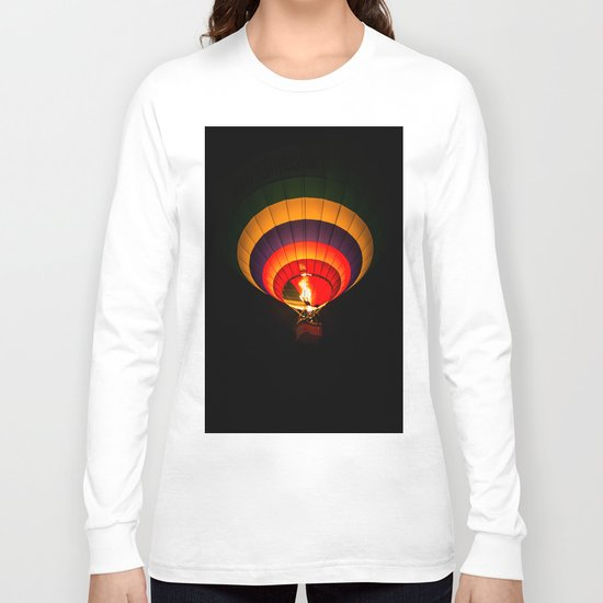 Night hot air balloon adventure Long Sleeve T-shirt