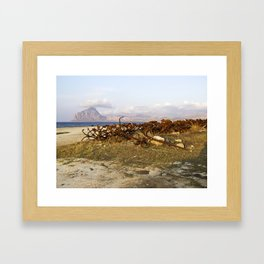 Sicilian Abandoned Port with Anchors Framed Art Print