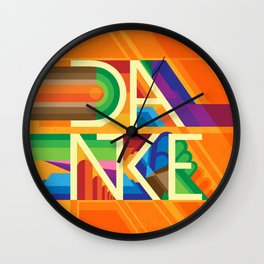 Danke - Appreciation Nation Wall Clock