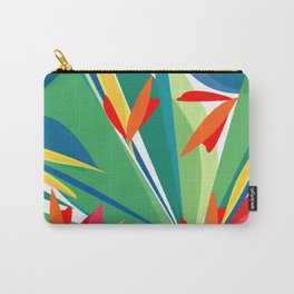 Tropical floral composition, exotic flowers, birds of paradise. Carry-All Pouch