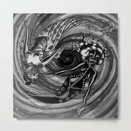 Dark Zodiac: Pisces Metal Print
