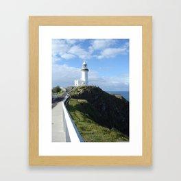 Lighthouse on the Bay Framed Art Print