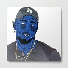 Blu Goo Metal Print