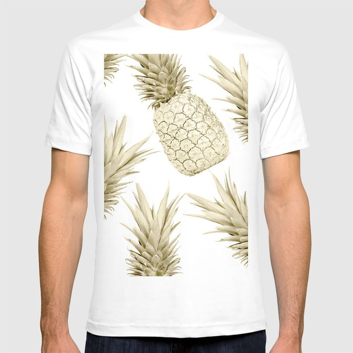 3e2a652ce9e2 Gold Pineapple Bling T-shirt by luxuryhome | Society6