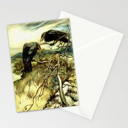 The Two Crows Stationery Cards