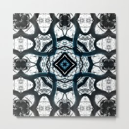 Pine tree mandala dark Metal Print