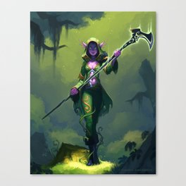 Elf Warlock, Level 2 Canvas Print
