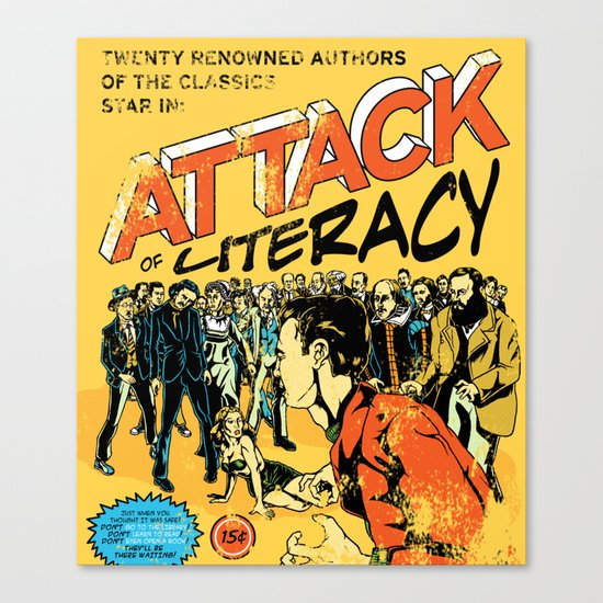 Attack of Literacy Canvas Print