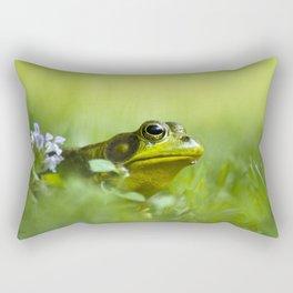 Frog Portrait Rectangular Pillow