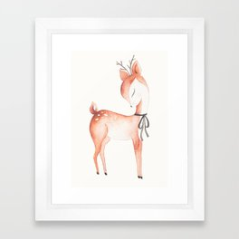 whimsical fawn 2 Framed Art Print