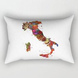 Italy Map Rectangular Pillow