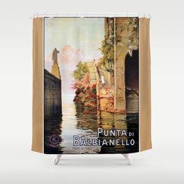 1920 Romantic Lenno Lake Como Shower Curtain