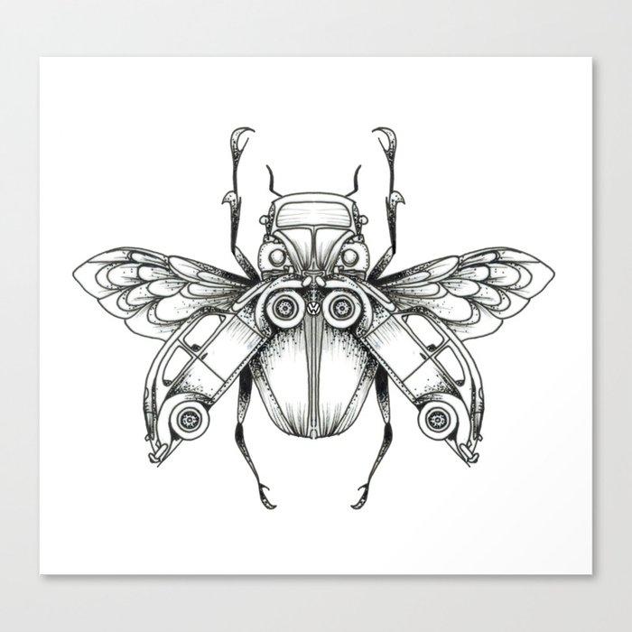 Beetle-Beetle Canvas Print