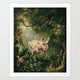 Jean-Honore Fragonard - The swing Art Print