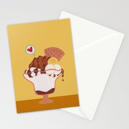 Caramel Softscoop Parfait Stationery Cards