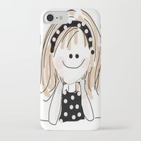 girly iPhone & iPod Cases featuring girly by Indraart