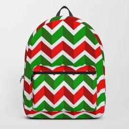 Christmas Pattern 4 Christmas chevrons Backpack