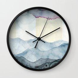 Mountians and Mandalas lll Wall Clock