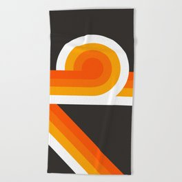 Flame Looper Beach Towel