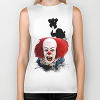 pennywise Biker Tanks featuring Pennywise the Clown: Monster Madness Series by SB Art Productions