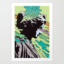 Greek Profil Art Print