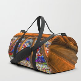 Stained Glass Abbey Window Duffle Bag