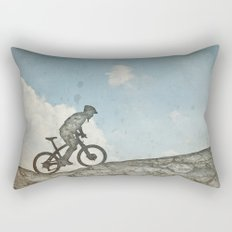 Mountain Biking Rectangular Pillow