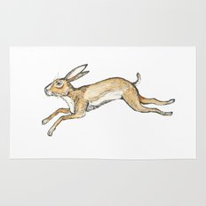 Spring rabbit Rug