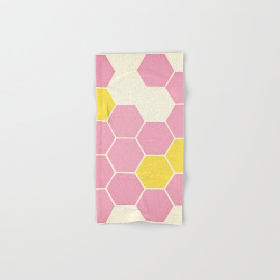 Pink Honeycomb Hand & Bath Towel