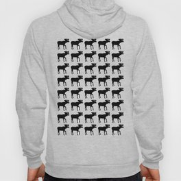 Graphic Black and White Moose Multiples Hoody