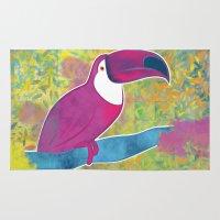 toucan Area & Throw Rugs featuring Toucan by Eliana Bertola