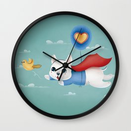Super Hero Dog Wall Clock