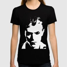 BOWIE Black Womens Fitted Tee SMALL