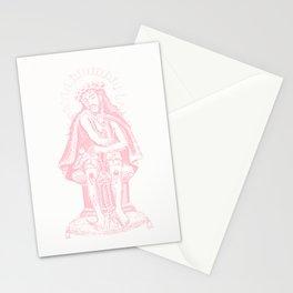 Vintage Illustration, Christ Seated, Bubblegum Pink Stationery Cards