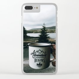 The Adventure Begins Clear iPhone Case