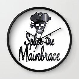 Splice the Mainbrace Pirate Wall Clock