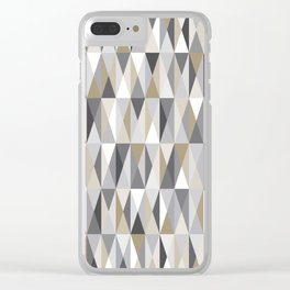 Stone Mid Century Modern Triangle Print Clear iPhone Case